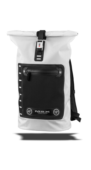 Mainstream MSX BackPack 48° - Mochila bicicleta - 25l Clean Ripstop blanco/negro